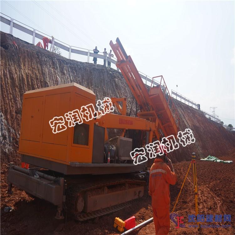 深基坑支护锚杆钻机 全液压气动护坡凿岩钻机