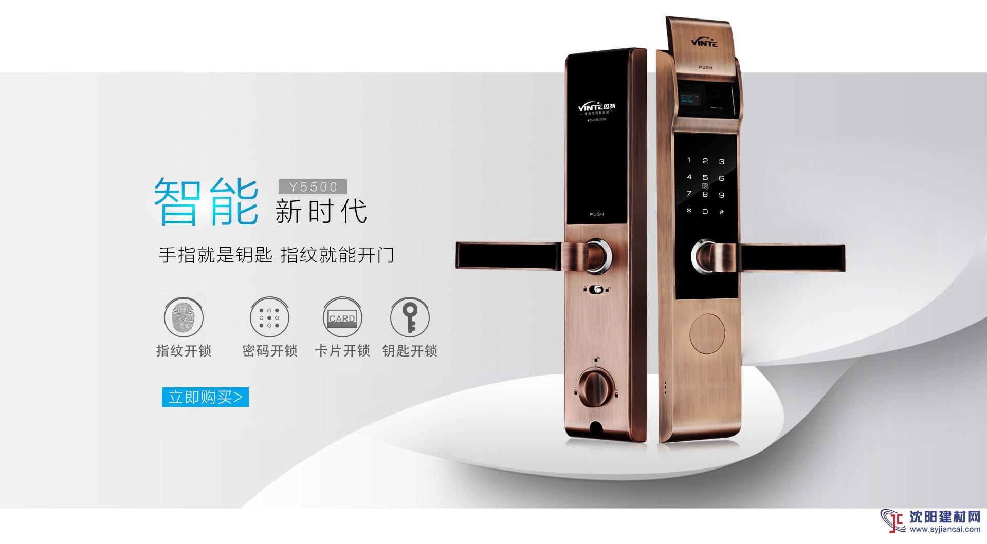 因特指纹锁家用智能锁新款通用型电子锁密码锁Y5500S