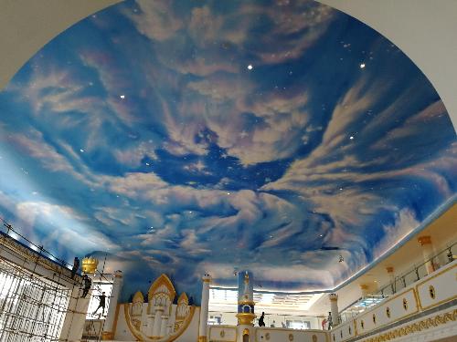 大型天花彩绘工程