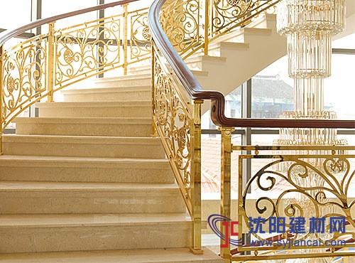别墅铝艺楼梯护栏