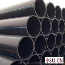 大口径pe排水管聚乙烯排水排污管实壁管厂家供应