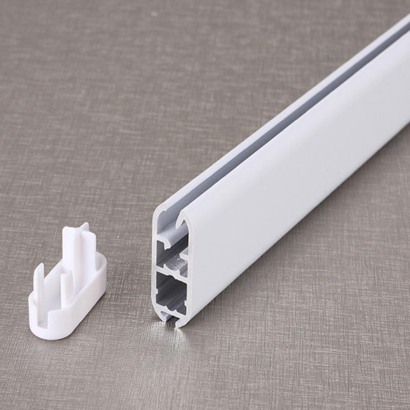 厂家直销亨利重型卷帘下梁电动窗饰铝材