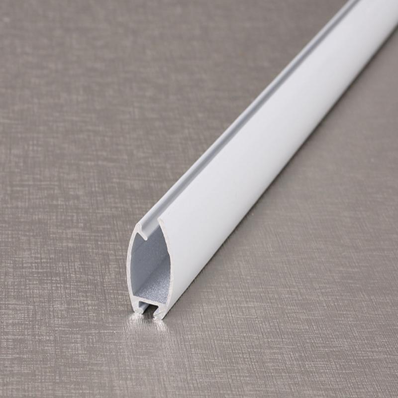 厂家直销高白光色烤漆加厚重型遮阳帘下梁