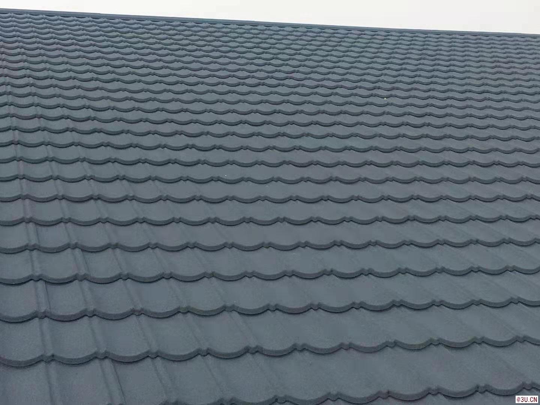 彩石金属瓦厂家屋面镀铝锌彩石瓦平改坡金属瓦