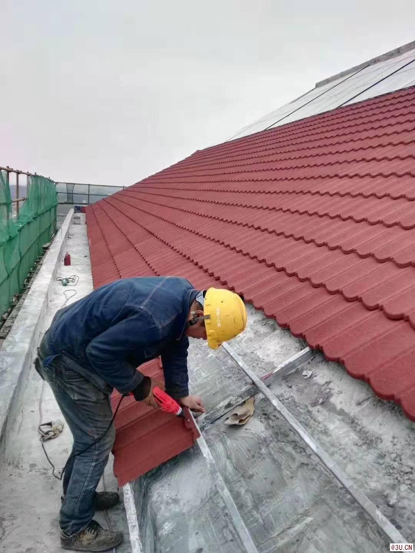 北京彩石金属瓦钢结构屋面瓦平改坡镀铝锌瓦圆弧瓦
